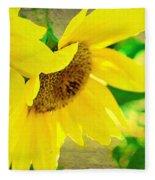Mark Twain's Sunflowers Fleece Blanket
