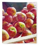 Market Apples Fleece Blanket