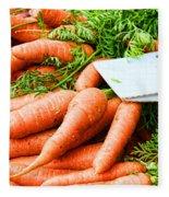 Market Carrots By Diana Sainz Fleece Blanket