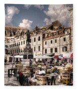 Market Day In The White City Fleece Blanket