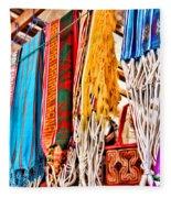 Market Hammocks In El Casco By Diana Sainz Fleece Blanket