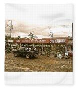 Market In Costa Rica  Fleece Blanket