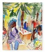 Market In Teguise In Lanzarote 03 Fleece Blanket