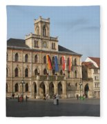 Market Place Weimar - Unesco Heritage Site Fleece Blanket