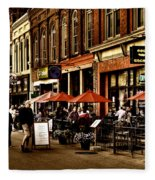 Market Square - Knoxville Tennessee Fleece Blanket
