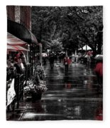 Market Square Shoppers - Knoxville Tennessee Fleece Blanket