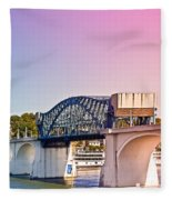 Market Street Bridge Fleece Blanket