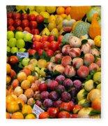 Market Time II Fleece Blanket