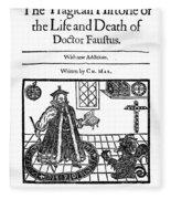 Marlowes Doctor Faustus Fleece Blanket