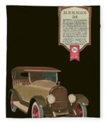 Marmon 34  - Vintage Poster Fleece Blanket