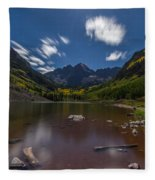 Maroon Bells At Night Fleece Blanket