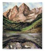 Maroon Bells Colorado - Landscape Fleece Blanket