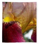Maroon Iris Fleece Blanket