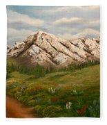 Maroon Trail Splendor Fleece Blanket