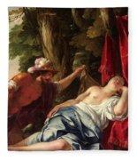 Mars And The Vestal Virgin Fleece Blanket