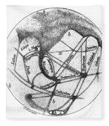 Mars: Schiaparelli, 1877 Fleece Blanket