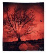 Mars Tree Fleece Blanket