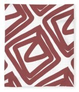 Marsala Envelopes- Abstract Pattern Fleece Blanket