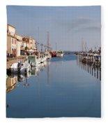 Marseillan Harbour Fleece Blanket