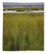 Marsh At Milford Point Fleece Blanket