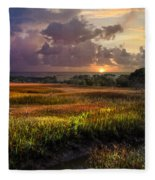Marsh At Sunrise Fleece Blanket