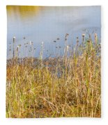 Marsh Grass And Reflections Fleece Blanket