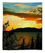 Marsh Lake - Yukon Fleece Blanket
