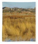 Marsh Lands In Wildlife Refuge Fleece Blanket