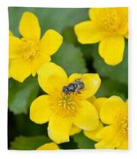 Marsh Marigold Fleece Blanket