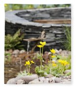 Marsh Marigolds Fleece Blanket