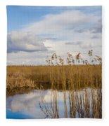 Marsh Reed Fleece Blanket