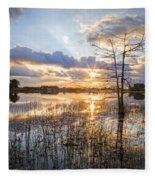 Marsh Sunrise Fleece Blanket