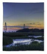 Marsh To Bridge Fleece Blanket