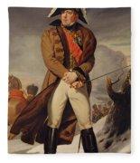 Marshal Michel Ney 1769-1815 Duke Of Elchingen Oil On Canvas Fleece Blanket