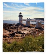 Marshall Point Light Fleece Blanket