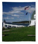 Marshall Point Lighthouse Fleece Blanket