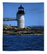 Marshall Point Surrounded By Blue Fleece Blanket