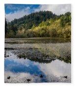 Marshall Pond In Autum Fleece Blanket