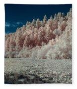 Marshall Pond In Infrared Fleece Blanket