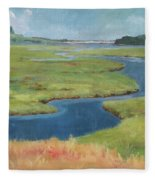 Marshes At High Tide Fleece Blanket