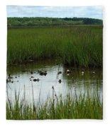 Marshlands Around Hilton Head Island Fleece Blanket