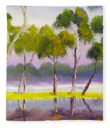 Marshlands Murray River Red River Gums Fleece Blanket