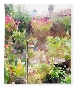 Martha's Garden Fleece Blanket