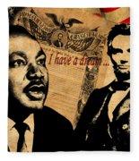 Martin Luther King Jr 2 Fleece Blanket