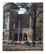 Martin Luther King Jr. And Sixteenth Street Baptist Church Fleece Blanket