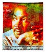 Martin Luther King Jr Fleece Blanket