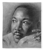 Martin Luther King Jr Fleece Blanket