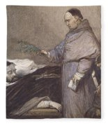 Martin Rithone Blessing The Body Of The Count Of Egmont Wc On Paper Fleece Blanket
