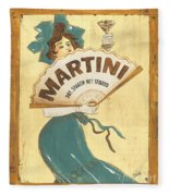 Martini Dry Fleece Blanket by Debbie DeWitt