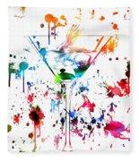 Martini Paint Splatter Fleece Blanket